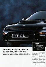 TOYOTA CELICA T18 Coupe Carlos Sainz Turbo 4WD Cabrio Prospekt Brochure 1992 66