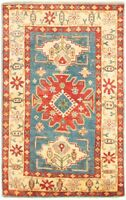 "Hand-knotted Carpet 3'10"" x 6'1"" Finest Gazni Traditional Wool Rug"