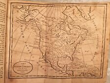Jedidiah Morse Geography Made Easy Book 11th Ed 1807 2 Maps Calf Leather