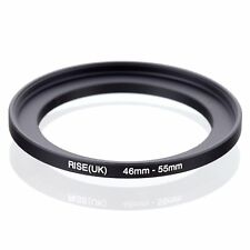 RISE(UK) 46mm-55mm 46-55 mm 46 to 55 Step Up Ring Filter Adapter black