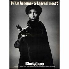1973 Blackglama: Pearl Bailey Vintage Print Ad
