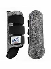 Davis Horse Boots Tendon Brushing Jumping Classic Black Glitter Cob Medium