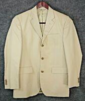 Banana Republic Men's Beige Cotton Linen Blend Blazer Sport Coat Measures 40-42R