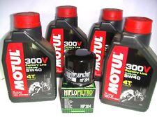 MANTENIMIENTO ACEITE 4 L MOTUL 300 V 5W40 + FILTRO HIFLO SUZUKI 600 Velocidad