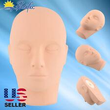 Training Mannequin Head Soft Rubber Practice Makeup Massage Free 3 Eyelashes