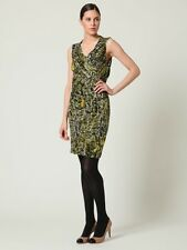 Kenneth Cole Feathers Olive Modal Dress Size Petite L  NWT