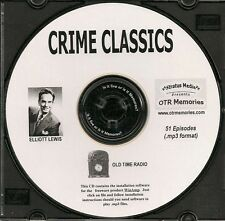 CRIME CLASSICS - 51 Shows Old Time Radio In MP3 Format OTR On 1 CD