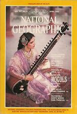 NATIONAL GEOGRAPHIC April 1985 NEW DELHI INDIA Moguls ISLE-ROYALE PARK Alps MAP