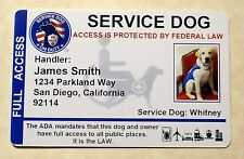 HOLOGRAPHIC SERVICE DOG VEST ID BADGE CARD SERVICE ANIMAL ID WORKING DOG PET 8