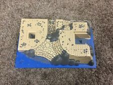 Lego Raised tan / blue HUGE Base Plate 44510 For World City Coast Watch Set 7047