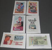 TULIPÁN - SERIE COMPLETA DE 6 SOBRES DE AZUCAR