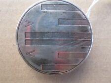Poudrier ancien-Argent Massif-chiffré AV-Art Déco-silver