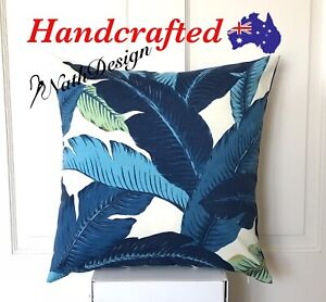 Tommy Bahama Outdoor/Indoor Blue & White Swaying Palm Leaf 45cm Cushion Cover