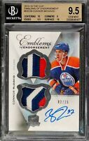 2015 The Cup Emblems Connor Mcdavid Rookie Rc Patch AUTO /15 BGS 9.5 Gem