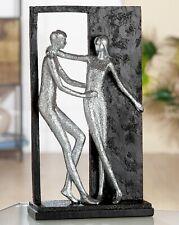 Skulptur Paar Liebe Versprechen schwarz silber H/B/T 27cm/16cm/6,5cm Gilde