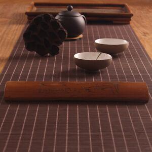 Tea Flag Table Runner Bamboo Woven Tablecloth Insulation Placemat Kitchen Mat
