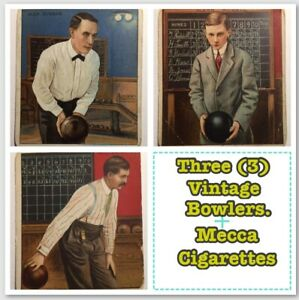'3' Bowling Series Tobacco Cards 1910 MECCA Cigarettes