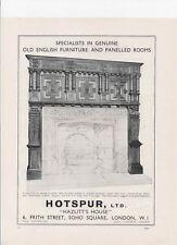 1934 Print ad HOTSPUR LTD. Old English Furniture & panelled Rooms.