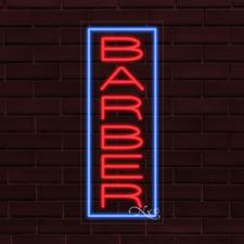 Brand New Barber Withborder Vertical 32x13x1 Inch Led Flex Indoor Sign 30310
