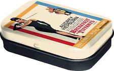Retro Tin Metal Pill Box 'BREAKFAST AT TIFFANYS' with Mints - Audrey Hepburn