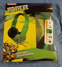Sakar Teenage Mutant Ninja Turtles Kids Safe Headphones, TNMT, Over The Ear, New