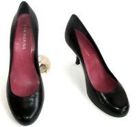 SAN MARINA escarpins talons 8 cm cuir bouts ronds cuir noir 40 EXCELLENT ETAT