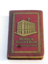 """Warren, Pennsylvania, """"The Warren National Bank"""", Book Bank w/Key!"""