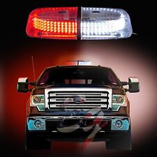 240 LEDs Light Bar Roof Top Emergency  Beacon Warning Flash Strobe Red White