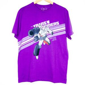 Transformers Hasbro 2009 More Than Meets The Eye Mens Purple T-Shirt Large