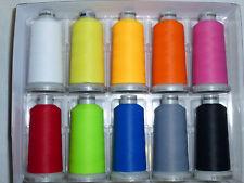 Frosted Matt 10 Farben Madeira Garn für die Stickmaschine True Color