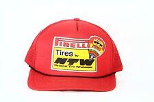 Pirelli NTW  Tires Vintage MESH Snapback Trucker Racing Auto Hat Baseball Cap