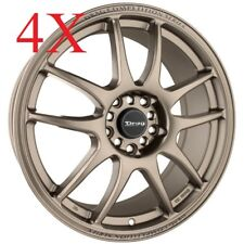 Drag Wheels DR-31 17x7 5x100 5x114.3 Rally Bronze Rims For Mazdaspeed RX7 RX8