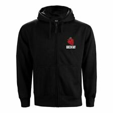 More details for mens green day american idiot black zip up hoodie - loose fit music sweater