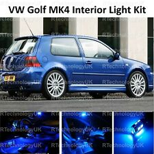 BLUE PREMIUM VW GOLF MK4 IV INTERIOR LED CAR LIGHT KIT PURE XENON BULBS GTI