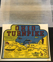VINTAGE OHIO TURNPIKE MODERN SUPERHIGHWAY IMPKO SOUVENIR STATE TRAVEL DECAL NEW