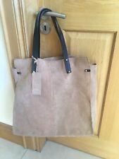 Topshop Large Suede Leather Tote Handbag