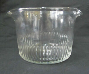 Antique Early 19th Century Clear Glass Double Spout WINE RINSER Bowl