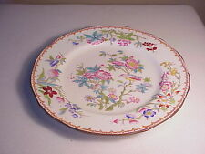 VINTAGE 1920'S ENGLISH MINTON PORCELAIN LUNCHEON PLATE - PINK PEONY FLOWERS