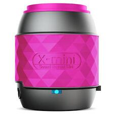 NEW GENUINE XMI X-MINI WIRELESS BLUETOOTH PORTABLE THUMB SIZE SPEAKER - PINK