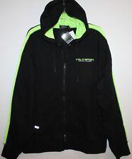 Polo Sport Ralph Lauren Mens Black Neon Zip Hoodie Sweat Jacket NWT $115 SIze L