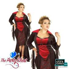 SCARLET VAMPIRA PLUS SIZE COSTUME Ladies Halloween Vampire Fancy Dress Outfit