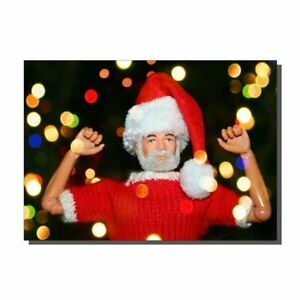 Vintage Sale Action Man Father Christmas Santa Christmas Card
