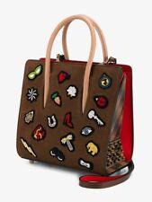 Christian Louboutin Small Paloma Charms Embellished Calfskin Leather Bag Tote