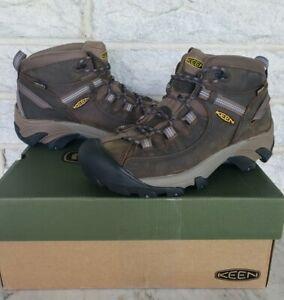 Keen Womens Targhee II Mid Waterproof Hiking Boots Size 9.5 Slate Black 1004114