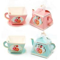 10PCS Cup Teapot Paper Candy Box Birthday Wedding Party Gift Baby Shower Decor