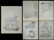 MAYENNE, CHATEAU DE BRIVES - PLANCHES ARCHITECTURE 1900 - MARCHAL