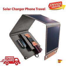 Cargador Solar de 14W CHOETECH, cargador de viaje plegable USB para teléfono con