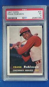1957 Topps #35 FRANK ROBINSON Rookie RC PSA 5 Cincinnati Reds ~SC3-756