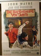 HAFENKNEIPE VON TAHITI | Original Filmplakat EA 1963 | John Wayne | Lee Marvin