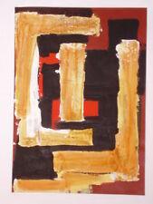 Tableau Abstrait acrylique sur papier 29 cm x 42cm -Tombe a Petra
